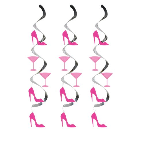 Dizzy Danglers Hanging Party Décor, Martini Glass and High Heels -