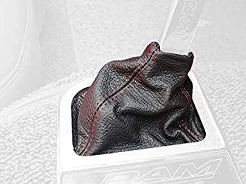Black Alcantara-Red Thread RedlineGoods Shift Boot Compatible with Porsche 944 1985-95