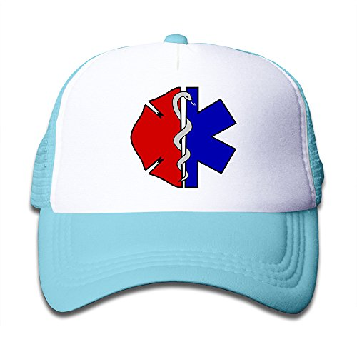 EMT Cross Star Of Life Mesh Kids Fitted Cap