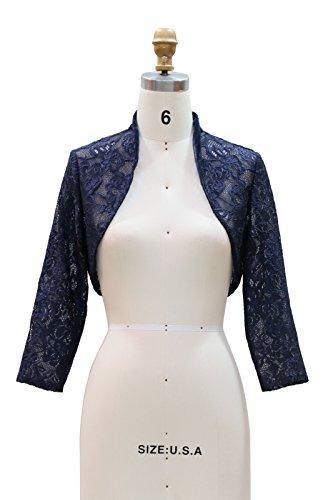 Chic Queen Women's Long Sleeve Floral Lace Shrug Bolero Cardigan