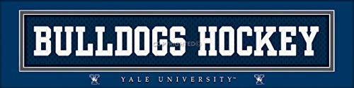 Prints Charming College Nameplate Yale University Bulldog Hockey Unframed Poster 22x6 Inches