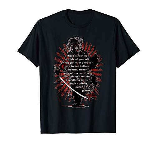 Wisdom for Martial Arts Samurai Musashi T-shirt Iaido Kendo