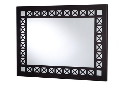 Mariano Metal Decor WA-6001-M-BRZ X-Pattern Cocoa Spice Bronze Metal Mirror/Wall Decor Art