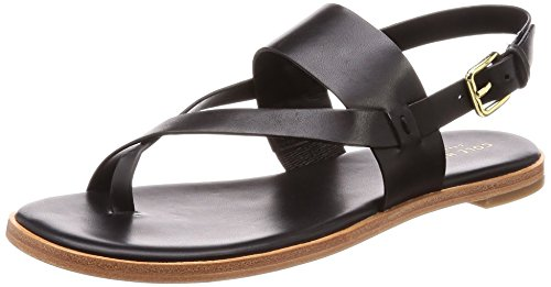 Cole Haan Vrouwen Anica Thong Flat Sandaal Zwart