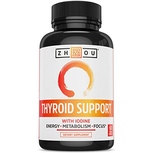 Thyroid Support Complex With Iodine - Energy, Metabolism & Focus Formula - Vegetarian, Soy & Gluten Free -