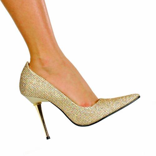 inc gold heels - 8
