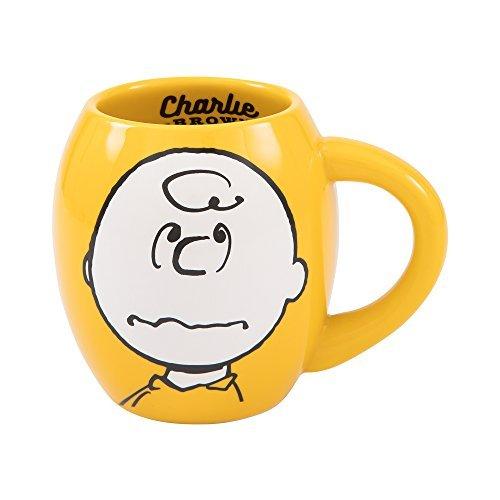 (Vandor Peanuts Charlie Brown 18-Ounce Oval Ceramic Mug)