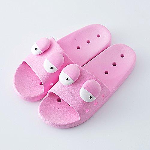 antideslizante personalidad parejas verano A fondo baño suave higiénico interior femenina Fankou 40 nbsp;Zapatillas 39 C plano verano creativa cool con WYPBwq0t08