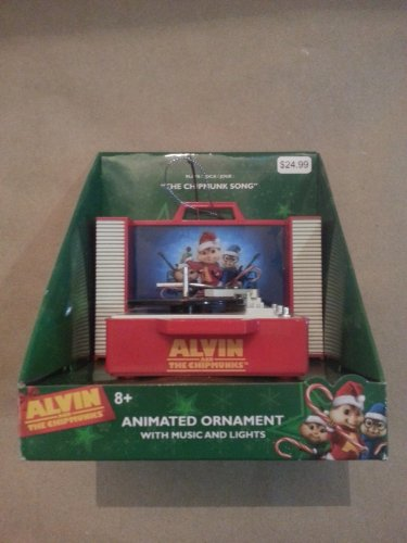 Alvin and the Chipmunks Animated Christmas Centerpiece Ornament