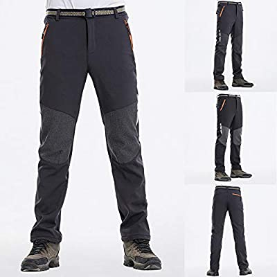 Men Thick Warm Pants Men's Autumn Winter Long Velvet Patchwork Outdoor Soft Shell Sweatpants Fashion Casual Trousers