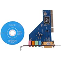 4 Channel 5.1 Surround 3D Pci Sound Audio Card For Pc Windows Xp/Vista/7 Blue