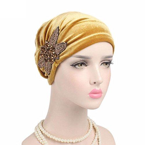 Beaded Velvet Hat - 3