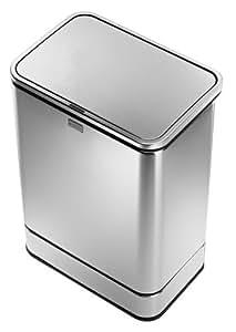 Simplehuman cubo de basura con sensor 2 x 24 l amazon - Cubo de basura con sensor ...