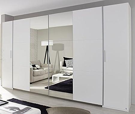 Dreh-/Schwebetürenschrank weiß 4-trg B 355 cm Jugend Schlafzimmer ...