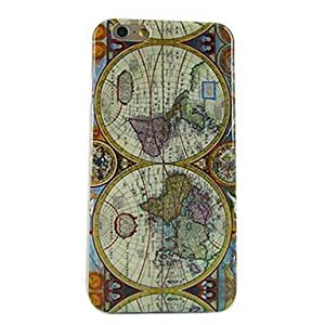 TOPAA Map Pattern Soft TPU Case Cover for iPhone 6