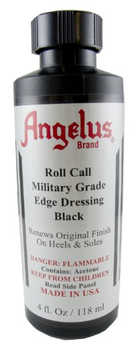 Springfield Leather Company's Angelus Edge Dressing, Black, 4oz - Heel Sole Edge Dressing