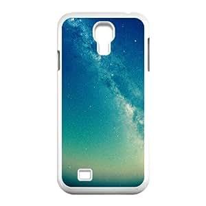 Samsung Galaxy S4 Case,Milky Way Star Dust Pinhole Photo Hard Shell Back Case for White Samsung Galaxy S4 Okaycosama478126