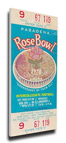 NCAA Washington Huskies 1978 Rose Bowl Mega Ticket (Washington Rose Huskies Bowl)