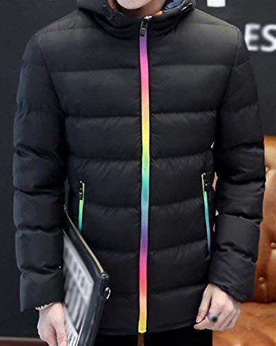 Transition Transition Coat Abiti Fashion Casual Quilted Capispalla Jacket Jacket Parka Warm Thick Winter Comode Taglie Schwarz Longsleeve Men ZZrq4O