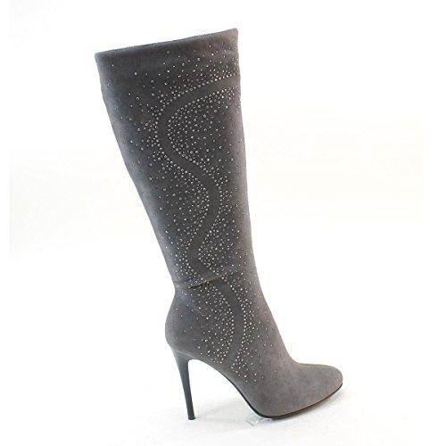 Knee High Boots High New Womens Heel Rhinestone Studded Brieten zYw8Bq0w