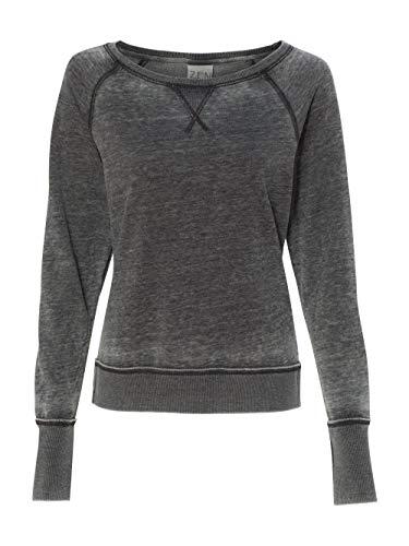 (J. America - Ladies' Zen Fleece Raglan Sleeve Crewneck Sweatshirt - 8927)