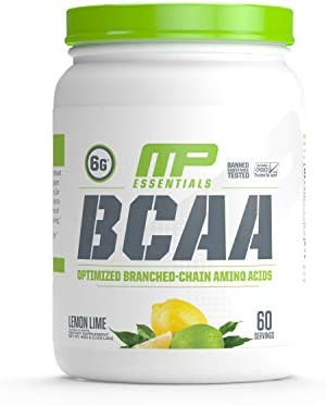 MP Essentials BCAA Powder, 6 Grams of BCAA Amino Acids, Post-Workout Recovery Drink for Muscle Recovery and Muscle Building, Valine Powder, BCCA Post-Workout, Lemon Lime, 60 Servings