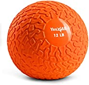 Yes4All Slam Balls (Orange) 12lbs for Strength and HIIT Workout – Slam Medicine Ball (YRHJ)