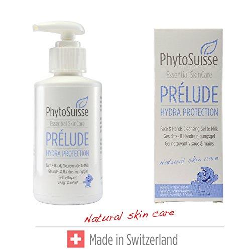 PhytoSuisse schonende Waschlotion für Hände und Gesicht - Prélude Hydra Protection Face & Hands Cleansing Gel - für Allergiker und Baby geeignet, 150ml