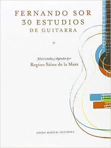 Fernando Sor: 30 Estudios De Guitarra: Amazon.es: Sor, Fernando ...