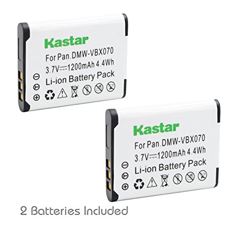 Kastar 2 Pack Replacement DB-L80 Li-Ion Battery for Sanyo Xacti DMX-CG11 / VPC-CG10 / VPC-CG102 / VPC-CG20 / VPC-CS1 / VPC-GH2 / VPC-X1200 / ICR-XPS01MF / ICR-XPS03MF / ICR-XRS120MF Cameras -