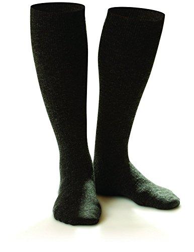 Dr. Comfort Shape to Fit Men's Wool Dress Compression Socks 10-15 mmHg, Charcoal/Black, - To Shape Fit