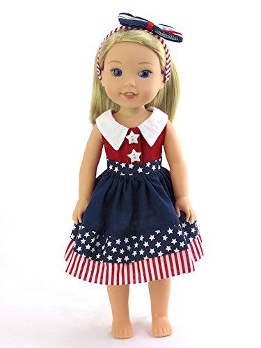 American Fashion World 4th of July Dress| Fits 14