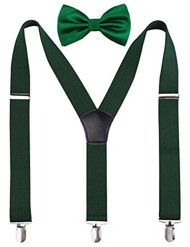Alizeal Y Back Adjustable Suspender Bowtie