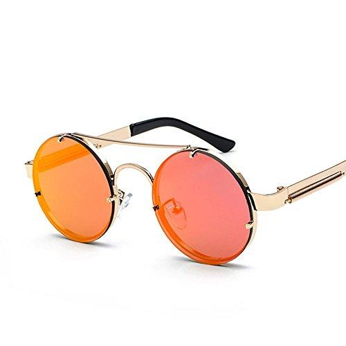Aoligei Européen et américain rétro punk tour frame lunettes de soleil mode exquise lady lunettes de soleil miroir jambe design verres WY9YsMX