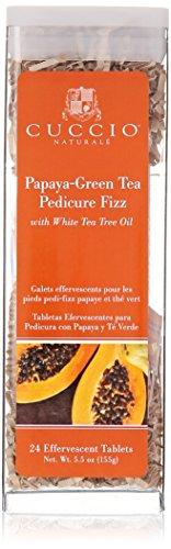 Cuccio Pedicure Fizz Tablets, Papaya/Guava, 24 ()