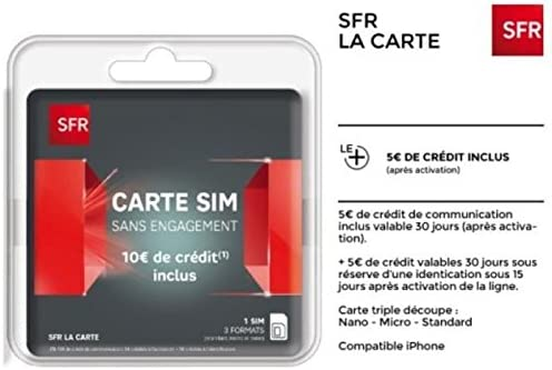 prix carte sim sfr SFR Sim Card with No Commitment and: Amazon.co.uk: Electronics