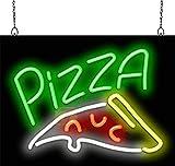 Pizza w/Pizza Slice Neon Sign