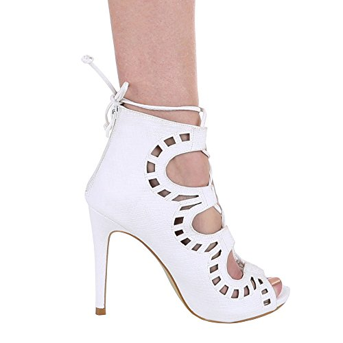 Ital-Design - sandalias mujer Blanco - Blanco