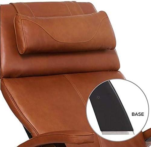 Human Touch Perfect Chair PC-420 Classic Manual Plus Matte Black – Cognac Premium Leather Zero Gravity Recliner