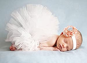 HugeStore Baby Newborn Infant Photo Photography Prop Costume Outfits Tutu Dress Skirt Suit Headband Set