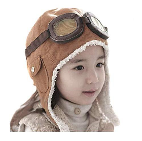 (Genius_Baby Lovely Cute Fashion Warm Baby Kid Toddler Infant Child Children Boy Girl Winter Earflap Pilot Cap Aviator Hat Beanie Flight Helmet)