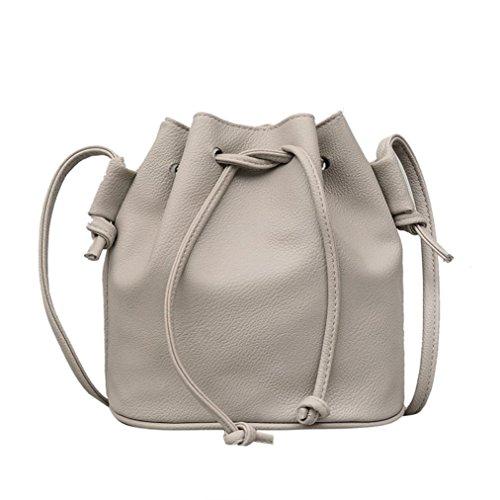 YJYDADA Fashion Women Leather Pure color Shoulder Bag Messen