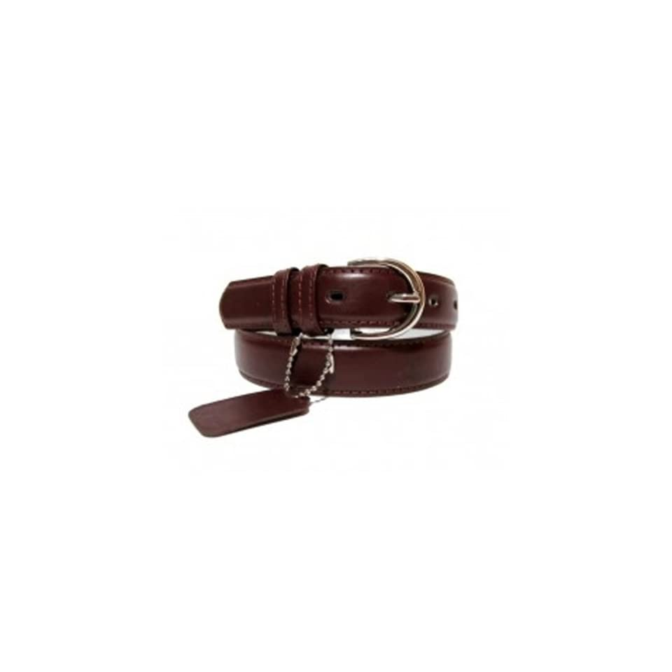 Genuine Leather Women's Dress Belt Basic Colors Dark Burgundy Apparel Belts