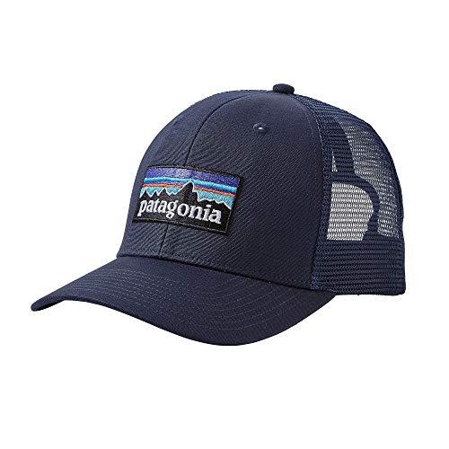 Patagonia P-6 Logo Trucker Hat, NVNV-NavyBlue, OS (Buffalo Mid Cap)