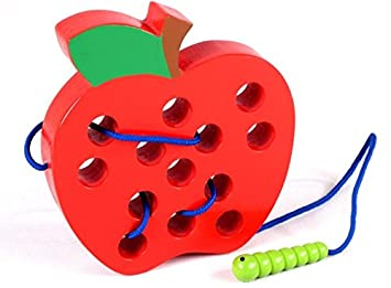 Tery Mango de Dibujos Animados Palo Juguete de educación Infantil temprana Comiendo insecticida Comiendo Fruta (Apple): Amazon.es: Juguetes y juegos