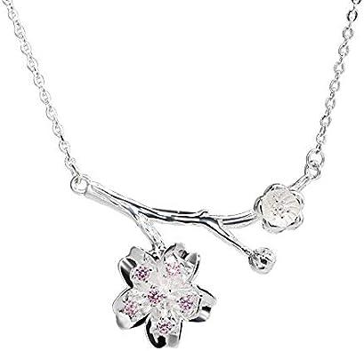 Halskette mit Kirschblüte Anhänger Sterlingsilber 925 Blume