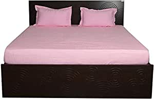 Brightlinen Pink Single (90 X 190 Cm) Fitted Sheet Stripe (pocket Size: 34 Cm) 3pcs