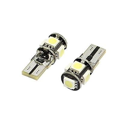 Amazon.com: eDealMax 2 piezas de Canbus T10 13 5050 SMD LED Indicador de coches Lámparas de luz Blanca de 12V DCC: Automotive