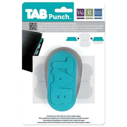 Tab Punch (File) by We R Memory Keepers | includes punch and six tab shaped adhesive strips