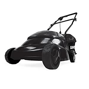 "Sun Joe MJ401E-BLK Mow Joe 14"" 12 Amp Electric Lawn Mower with Grass Bag, Black"